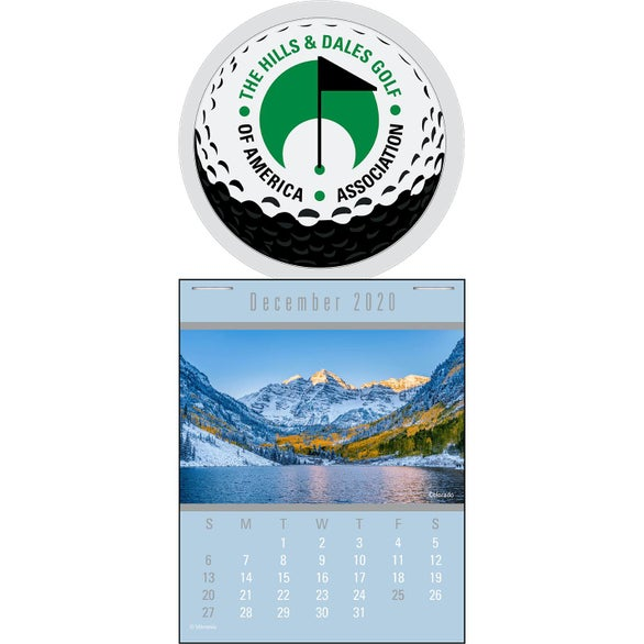 White Press N Stick Supersize Scenic Calendar