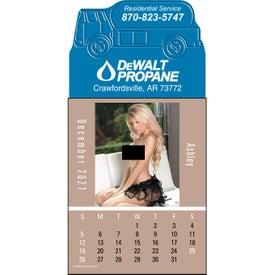 Press N Stick Dream Girls Topless Calendar Pad Giveaways