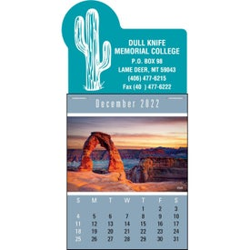 Imprinted Press-N-Stick - Scenic Calendar Pad