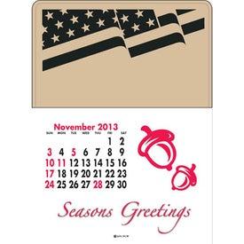 Imprinted Press-N-Stick - Standard Calendar Pad