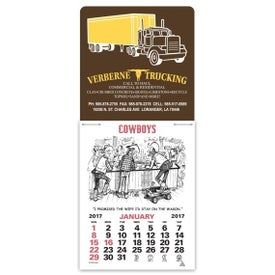 Press N Stick Supersize Cowboy Calendar Printed with Your Logo