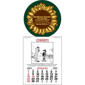 Press N Stick Supersize Cowboy Calendar