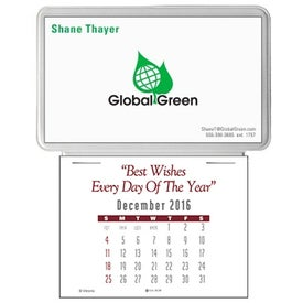 Press N Stick Business Card Calendar without Ad Message for Promotion