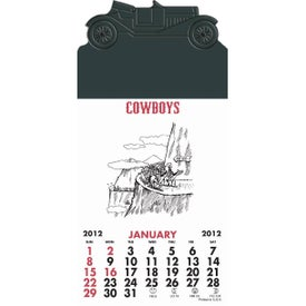 Branded Press-N-Stick - Cowboy Calendar Pad