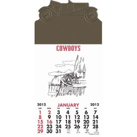 Advertising Press-N-Stick - Cowboy Calendar Pad