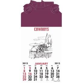 Press-N-Stick - Cowboy Calendar Pad for Your Company