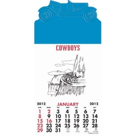 Press-N-Stick - Cowboy Calendar Pad for Promotion