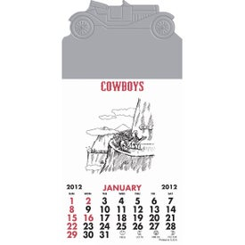 Press-N-Stick - Cowboy Calendar Pad Printed with Your Logo