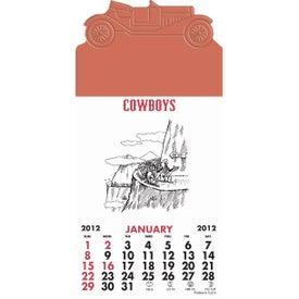 Advertising Press-N-Stick - Cowboy Calendar Pad