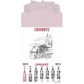 Printed Press-N-Stick - Cowboy Calendar Pad