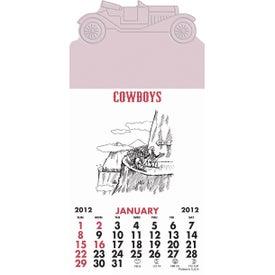 Printed Press-N-Stick - Cowboy Calendar Pad