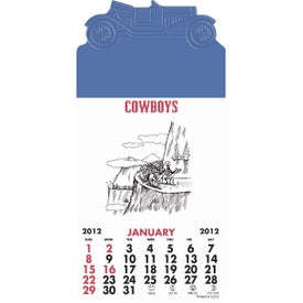 Press-N-Stick - Cowboy Calendar Pad with Your Slogan
