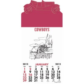 Logo Press-N-Stick - Cowboy Calendar Pad