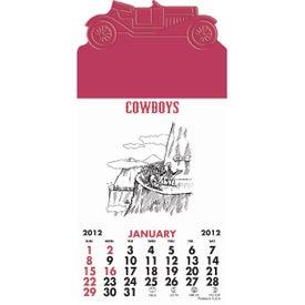 Logo Press-N-Stick - Cowboy Calendar Pad