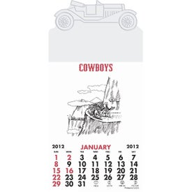 Press-N-Stick - Cowboy Calendar Pad for Advertising