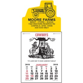 Press-N-Stick - Cowboy Calendar Pad Giveaways