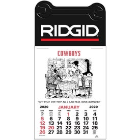 Monogrammed Press-N-Stick - Cowboy Calendar Pad