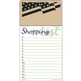 Promotional Press-N-Stick - Shopping List