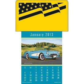 Printed Press-N-Stick - Cruisin' Cars Calendar Pad