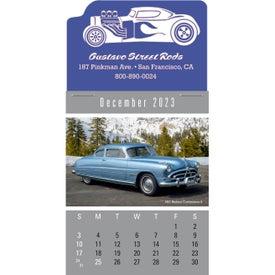 Personalized Press-N-Stick - Cruisin' Cars Calendar Pad