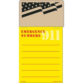 Press-N-Stick - Emergency Number List Branded with Your Logo