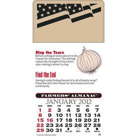 Promotional Press-N-Stick - Farmer's Almanac Calendar Pad