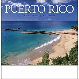 Puerto Rico Stapled Calendar with Your Slogan