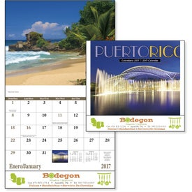 Puerto Rico Stapled Calendar with Your Logo