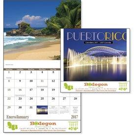 Puerto Rico Stapled Calendar with Your Logo