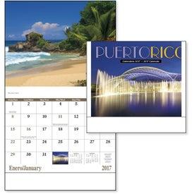 Promotional Puerto Rico Stapled Calendar