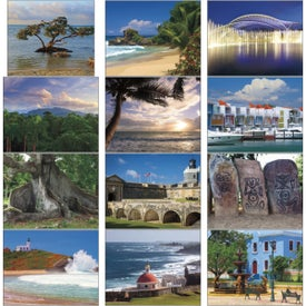 Personalized Puerto Rico Stapled Calendar