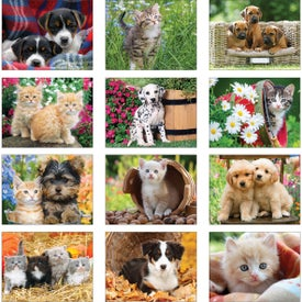 Custom Puppies and Kittens Wall Calendar