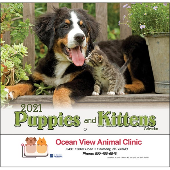 See Item Puppies and Kittens Wall Calendar