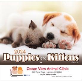 Puppies and Kittens Wall Calendar (Stapled)