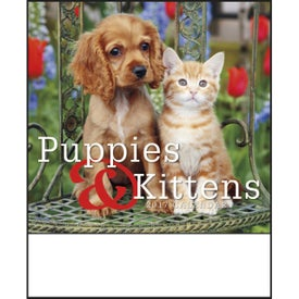 Puppies and Kittens Mini Calendar with Your Slogan