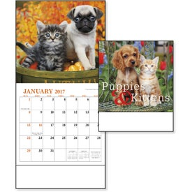 Puppies and Kittens Mini Calendar for Advertising