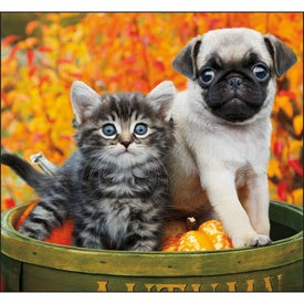 Monogrammed Puppies and Kittens Mini Calendar