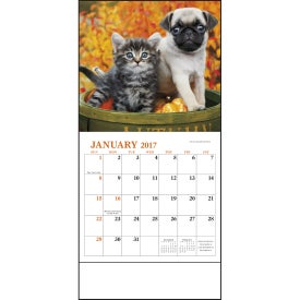 Puppies and Kittens Mini Calendar for Your Church