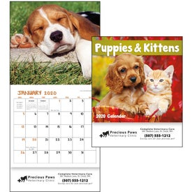 Puppies and Kittens Mini Calendar (2020)