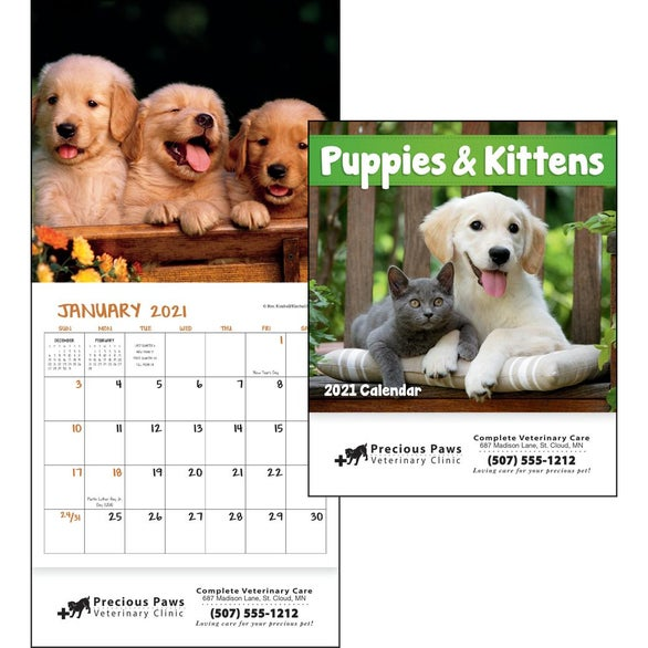 See Item Puppies and Kittens Mini Calendar
