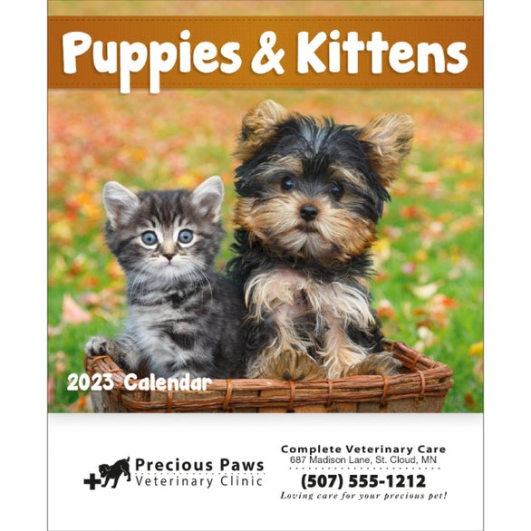 Puppies and Kittens Mini Calendar