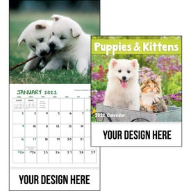 Puppies and Kittens Mini Calendar (2021)