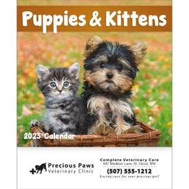 Advertising Puppies and Kittens Mini Calendar