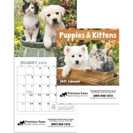 Advertising Puppies and Kittens Mini Calendar