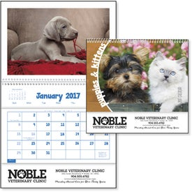 Branded Puppies and Kittens Pocket Calendar
