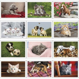 Puppies and Kittens Pocket Calendar Imprinted with Your Logo
