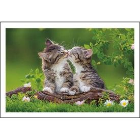 Monogrammed Puppies and Kittens Pocket Calendar