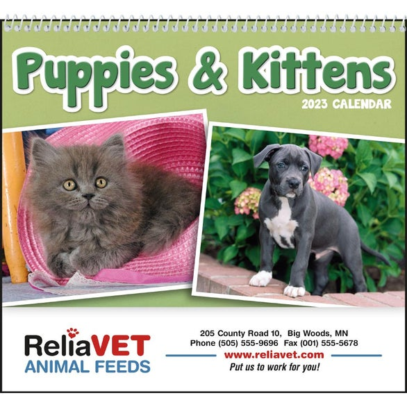 Puppies and Kittens Pocket Calendar