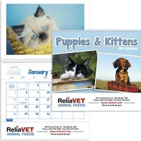 Puppies and Kittens Pocket Calendar (2020)
