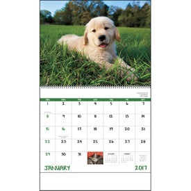 Puppies and Kittens Spiral Calendar for Your Church